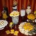 yellow & white baptism desserts