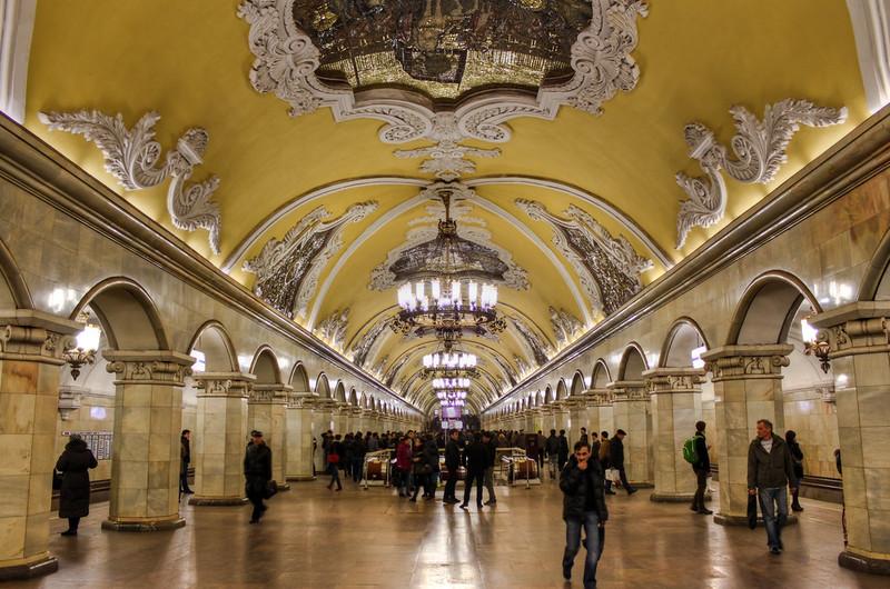0358 - Russia, Moscow, Komsomolskaya Metro Station HDR