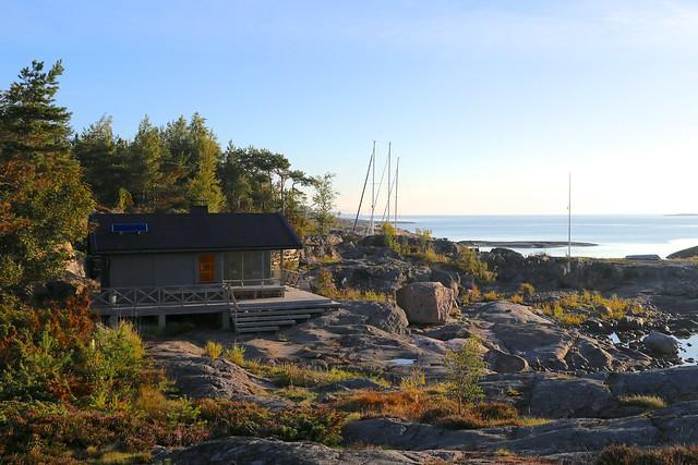 Sauna en una isla
