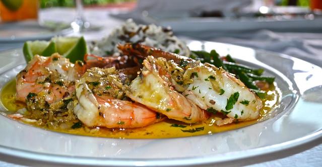 Shrimp with Garlic Sauce - Panza Verde