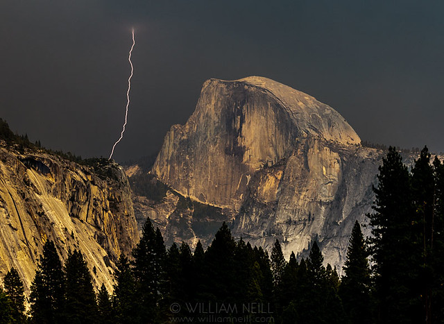 Half Dome and Lightning, Yosemite National Park, California