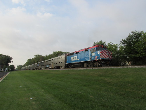 Southbound early morning Metra local commuter train departing from Glenview Illinois.  August 2013. by Eddie from Chicago