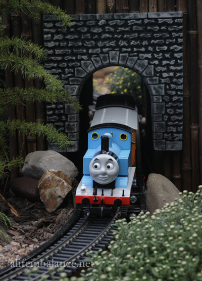 Thomas the Tank Engine at Longwood Garden's Garden Railway