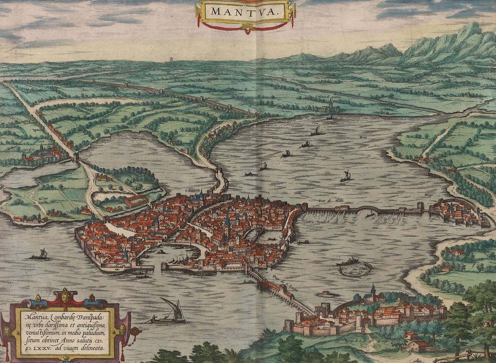 Mantua (Italia) Vistas de ciudades 1575