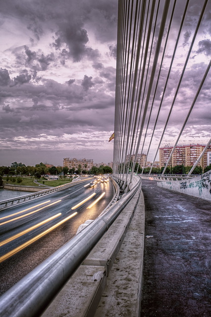 Puente del Alamillo al caer la tarde