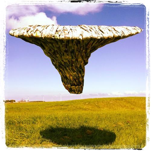 Paper Sculpture Woven Tornado