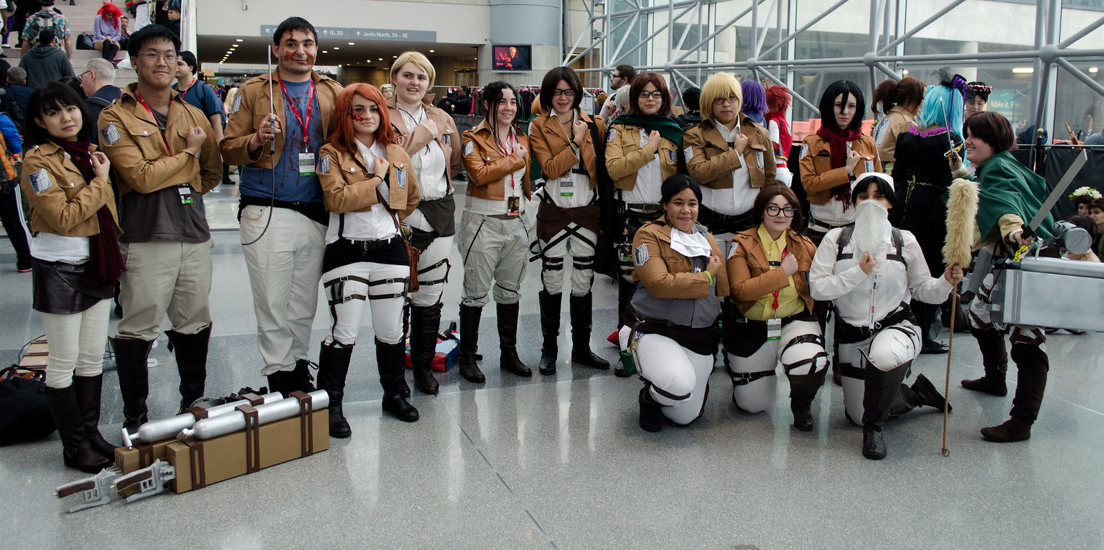 Attack on Titan Group Cosplay NYCC