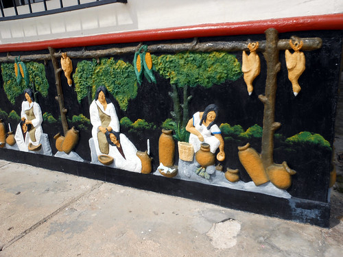 Wall art in Guatapé, Colombia