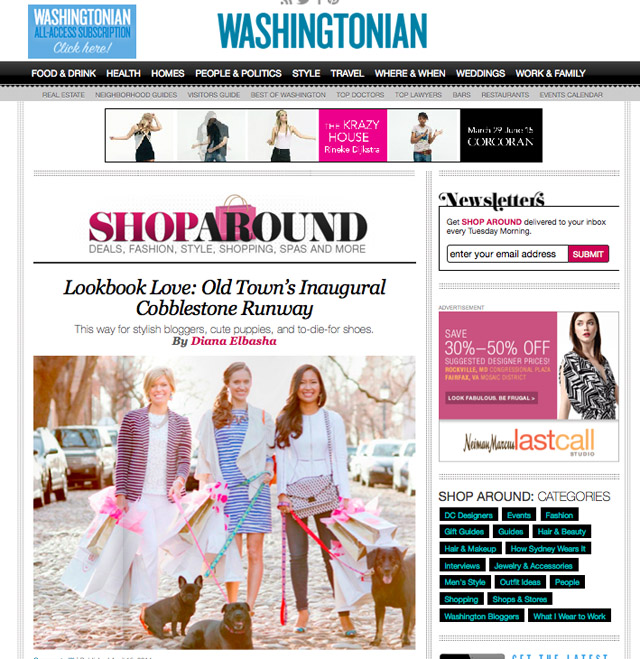 washingtonian cobblestone runway April 2014