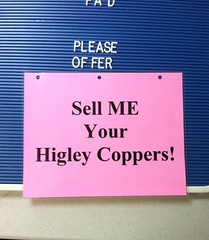 Higley Coppers sign