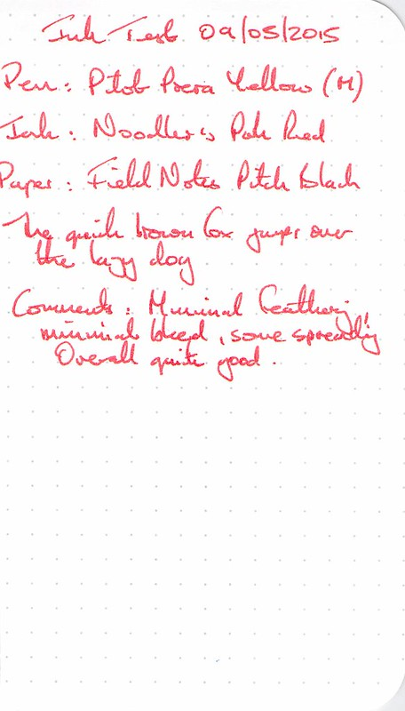 Noodler's Park Red - Field Notes