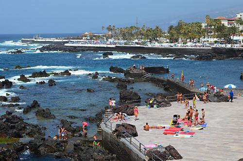 Sunbathing San Telmo, Puerto de la Cruz, Tenerife