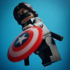 """He's Fast; Strong; Had A Plastic Arm!""  #LEGO #SuperHeroes #Marvel #MarvelComics #CaptainAmerica #WinterSoldier #Shield #CaptainAmericaTheWinterSolider #Disney #Comics #Comicbook #LEGOHumour #Homour #LEGOPhotography #ToyPhotography #Toyslagram #Toyslagra"