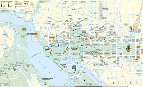 The National Mall and Smithsonian Museums, map