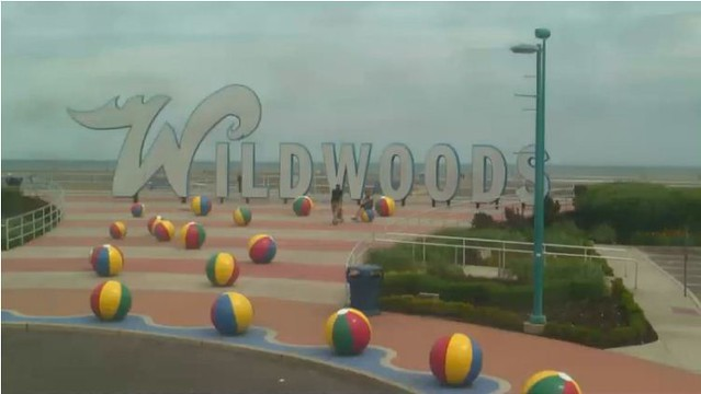Wildwoods Sign Webcam
