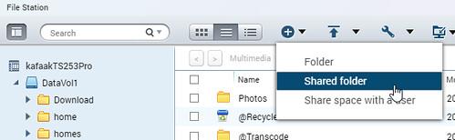 การใช้งาน Virtual Disk ก็แค่สร้าง Shared Folder ขึ้นมาใน File Station