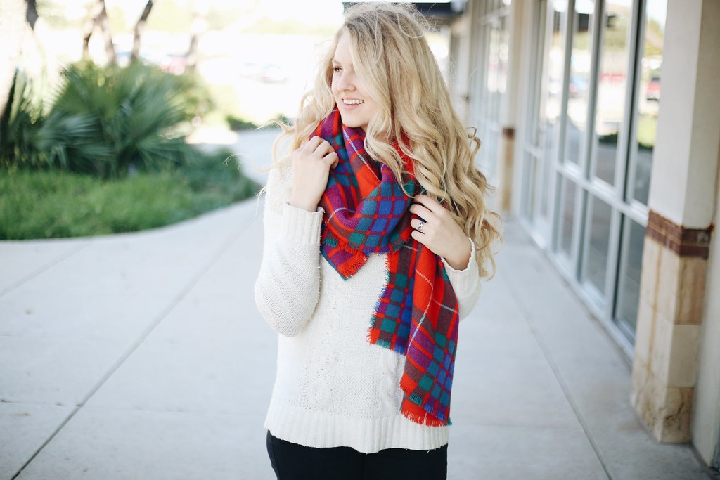 all rights reserved - Christmas Plaid Scarf