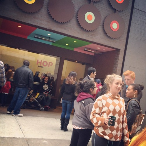 Line outside Sprinkles - Chicago