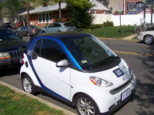 Car2Go on the 6600 block of 3rd Street NW