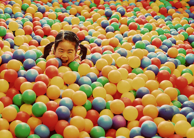 lily in ball pit
