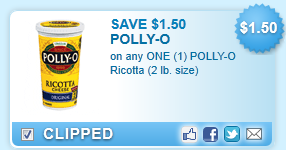 Polly-o Ricotta (2 Lb. Size)  Coupon