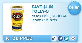 Polly-o Ricotta (2 Lb. Size)  Coupon