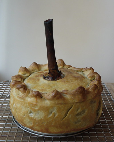 Smoked shank pie.