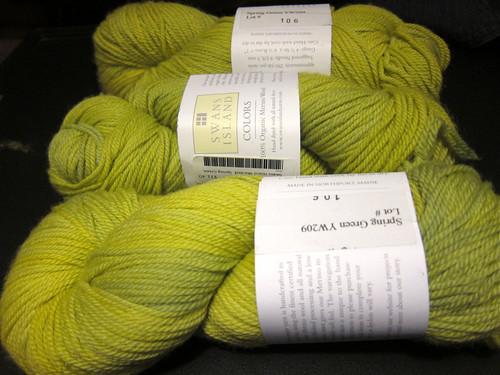 Swans Island Merino Organic Worsted Spring Green Wool