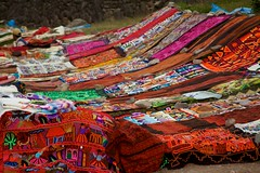 Peru - Cusco Sacred Valley & Incan Ruins 039 - textile handcrafts for sale at Tambomachay