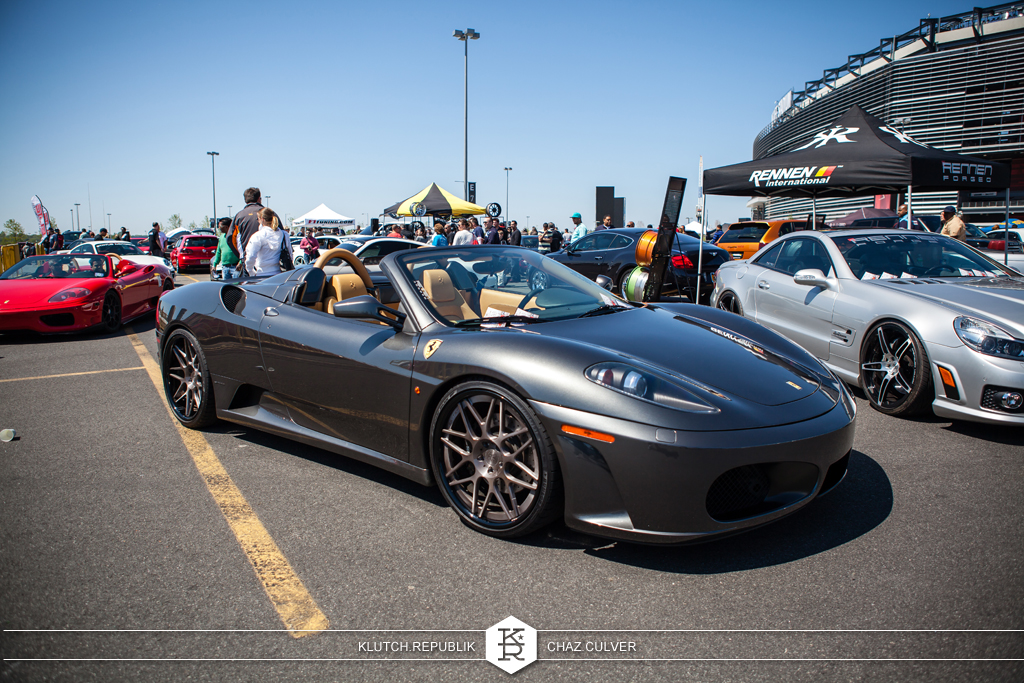 low and fitted ferrari at eurofest 2012