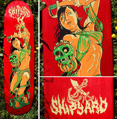 Shipyard Belly Dancer skate deck