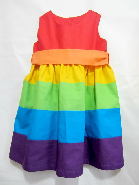 rainbow party frocks detail