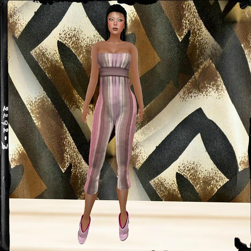 Blueberry Mesh Jumpsuit - Stripes - in Pink by Cherokeeh Asteria