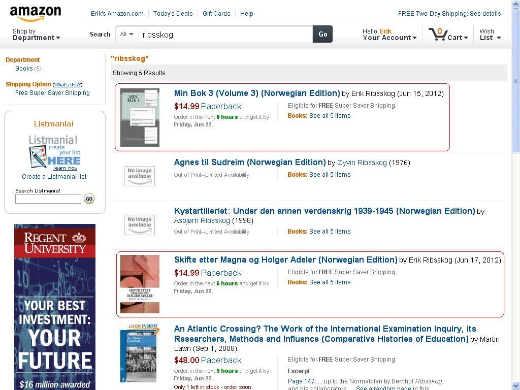fler bøker tilgjengelige på amazon