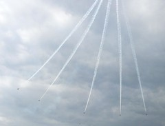 Red Arrows performing 8