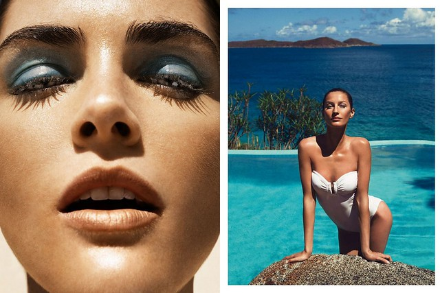 Hilary Rhoda by Nico for Madame le Figaro May 2012, Gisele Bundchen in Vogue Paris, June:July 2012 photographed by Inez & Vinoodh
