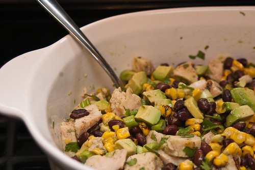 Chicken avocado salad, revisited