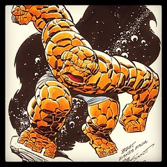 The Thing by Joe Sinnott. #comicbooks