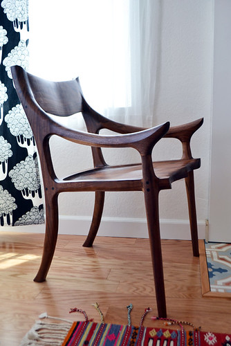 Handmade Low-Back Sculptured Chair by Me