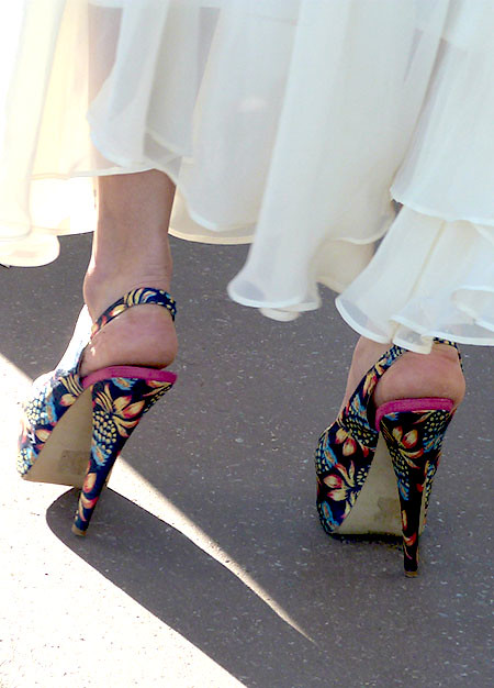 chaussures multicolores