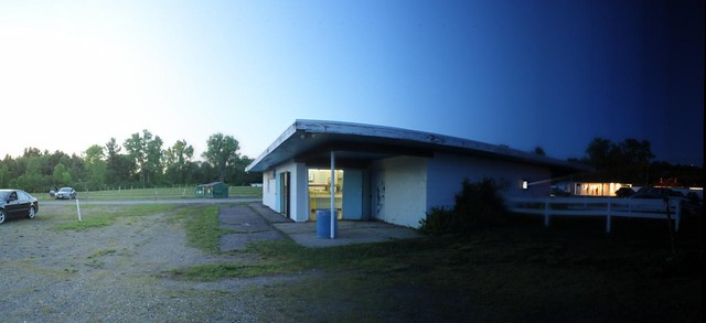 Jericho Drive-In Time-Slice Panoramic shot