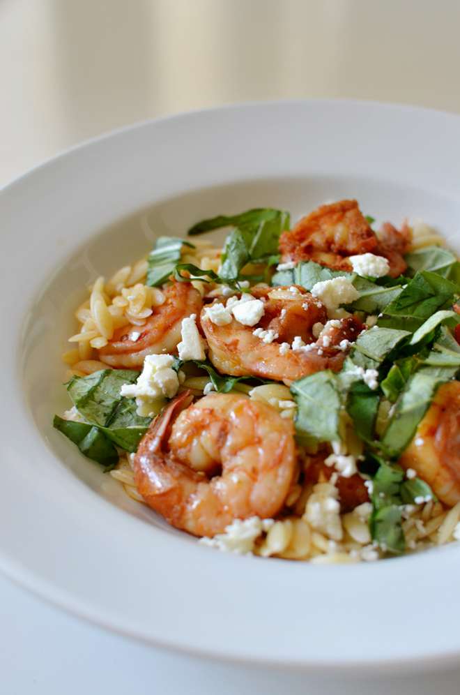 orzo and shrimp