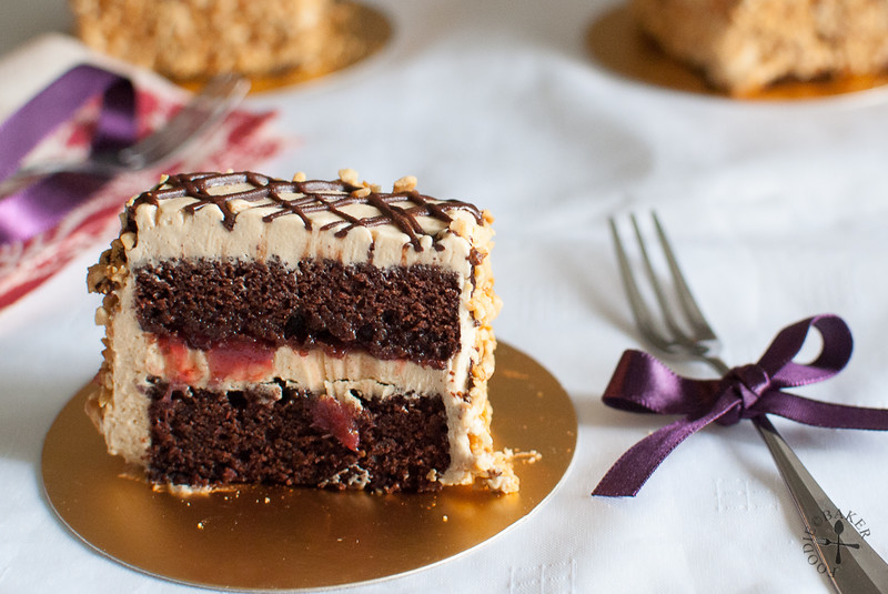 Devil's Chocolate Cake with PB&J