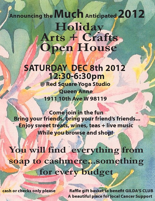 Holiday craft fair POSTER 2012