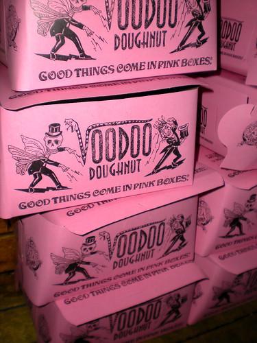 VooDoo Doughnut pink boxes