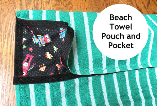 4my3boyz Beach Towel Pouch & Pocket