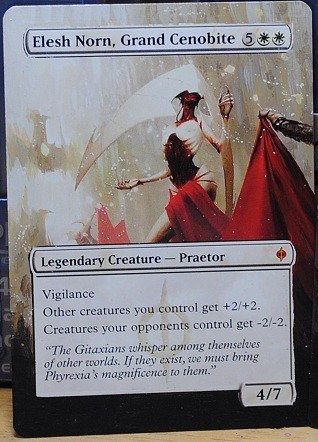 Elesh Norn, Grand Cenobite by Catherine Chandler, Gold Eagle Collection Magic card art magic magic altered art cards mtg card art magic artwork Cenobite Art elesh norn altered art