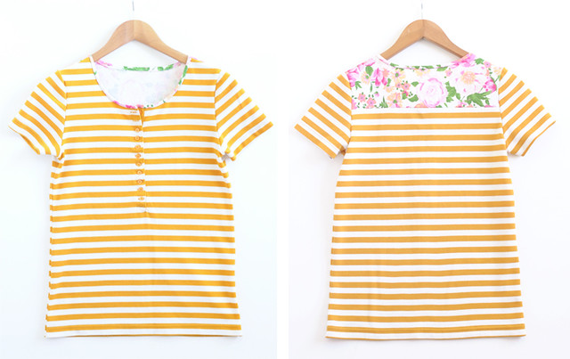 striped handmade tee