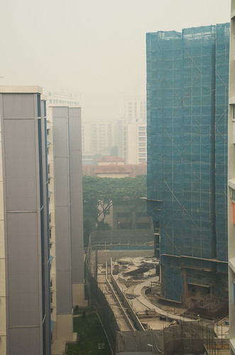 Curiously I can still hear construction work going on, with workers exposed to a high level of hazardous haze.
