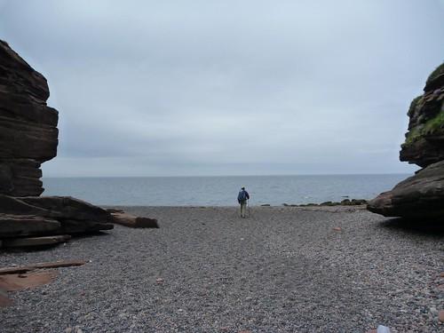 Fleswick Bay beachlet